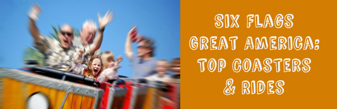 Top roller coasters and rides Six Flags Great America Gurnee IL