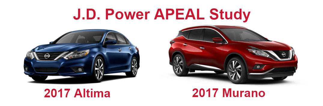 2017 Nissan Altima and 2017 Nissan Murano segment leaders in APEAL Study