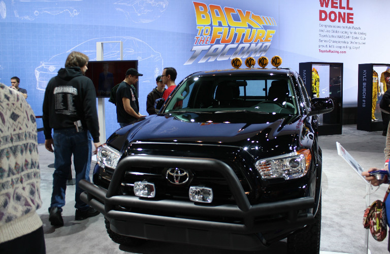 2016 chicago auto show 39 back to the future 39 toyota tacoma. Black Bedroom Furniture Sets. Home Design Ideas