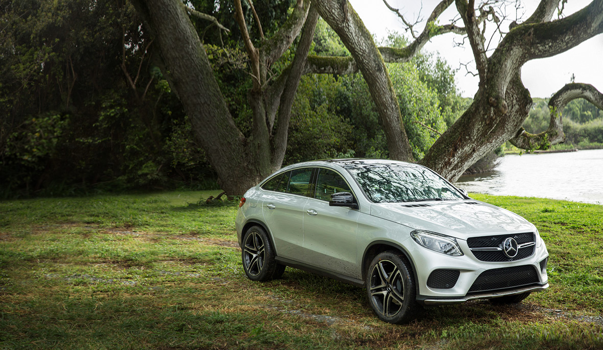 the new mercedes benz gle coupe featured in jurassic