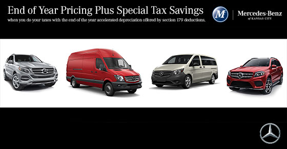Year end savings plus tax advantages mercedes benz for Mercedes benz of kc