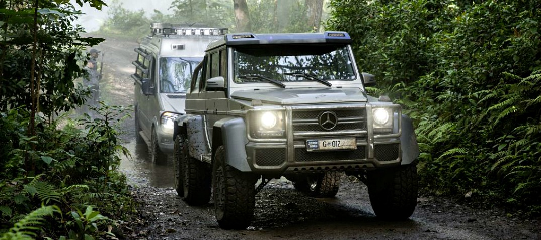 Mercedes Benz Models Seen In Jurassic World