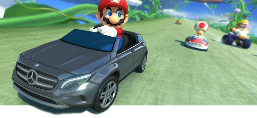 mercedes partners with nintendo to bring gla to mario kart 8 mercedes benz of north haven. Black Bedroom Furniture Sets. Home Design Ideas