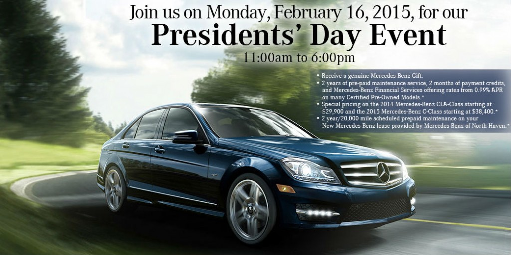 Spectacular savings available during president 39 s day sales for Mercedes benz certified pre owned sales event