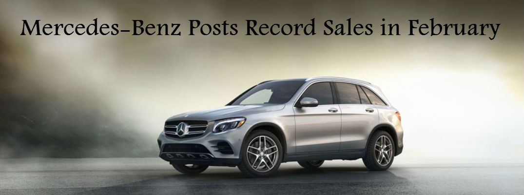 Mercedes benz brand sets sales record for february for Mercedes benz brand image