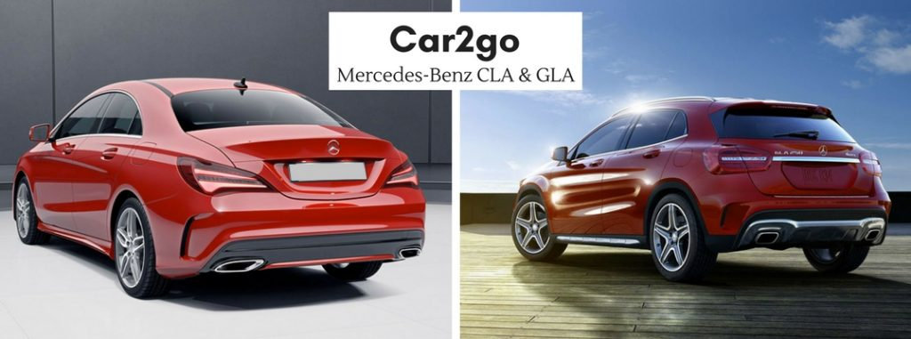 Car2go now offers mercedes benz cla and gla for Mercedes benz cla lease deals