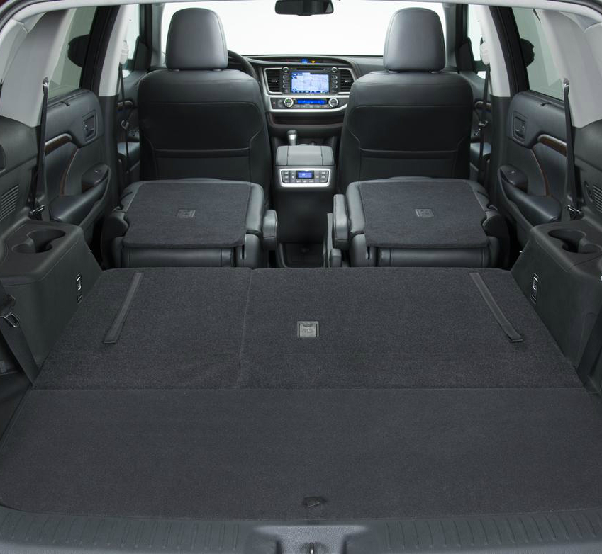 Toyota Highlander Storage Dimensions >> 2014 Toyota Highlander Offers Spacious and Versatile Interior - Toyota of River Oaks