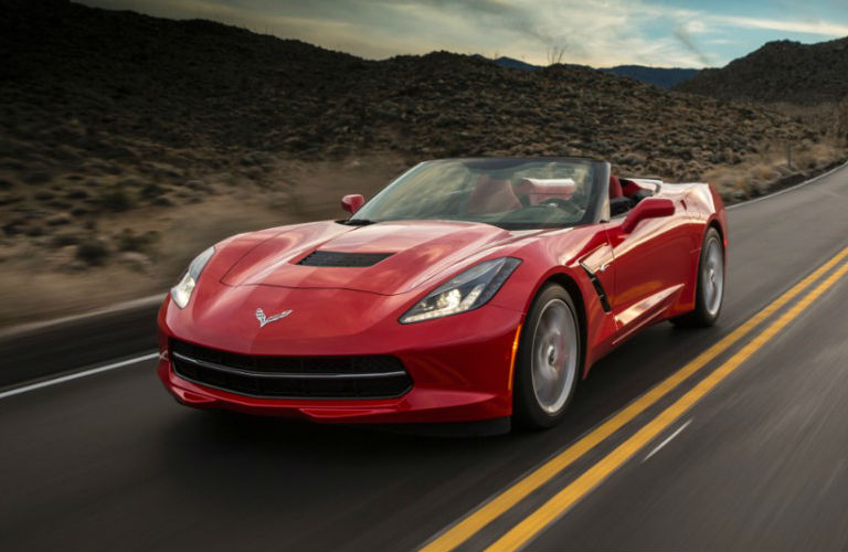 Used Chevy Corvette in red