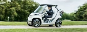Mercedes benz electric cars ces 2017 for How much is the mercedes benz golf cart
