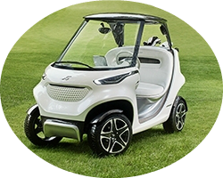 Mercedes benz style edition garia golf car for How much is the mercedes benz golf cart