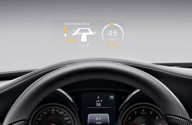 Does the mercedes benz c class have wifi for Mercedes benz heads up display