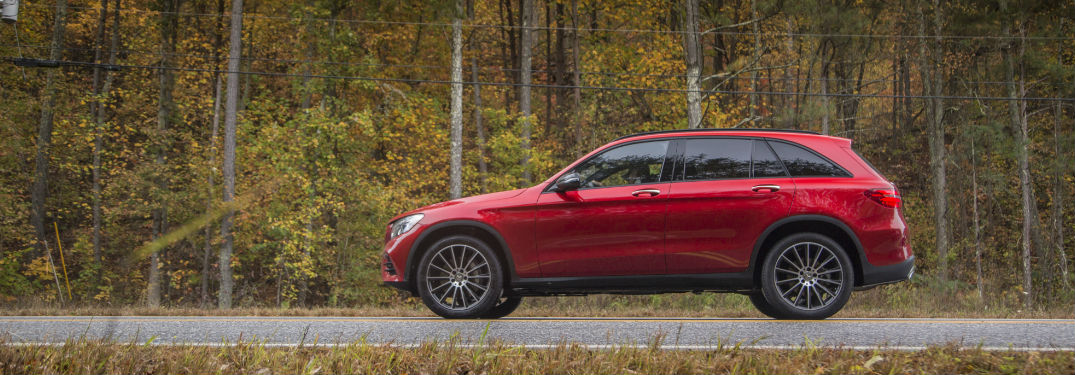 2018 GLC SUV in Red Side View