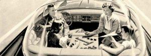Autonomous Driving Visions of the Past