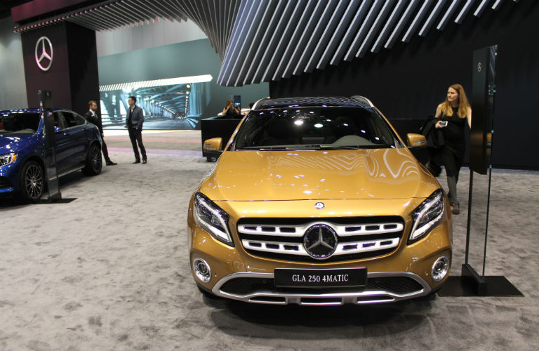 2018 mercedes benz gla images from the 2017 chicago auto show for Mercedes benz gla release date