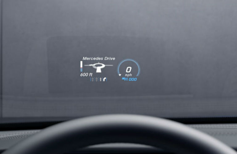 What technology features does the mercedes benz e class have for Mercedes benz heads up display