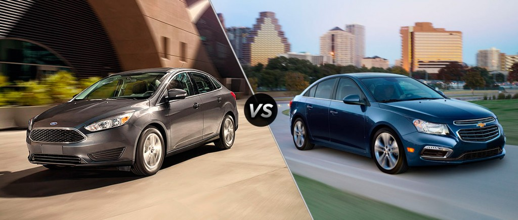 battle of the compact cars cruze vs focus osseo automotive 39 s official blog. Black Bedroom Furniture Sets. Home Design Ideas