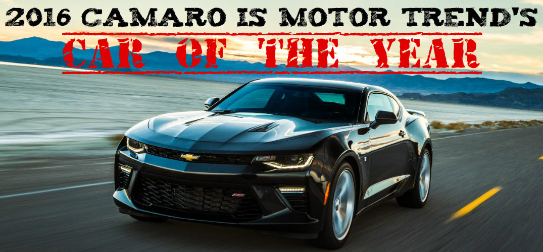 2016 Camaro Is The Motor Trend Car Of The Year