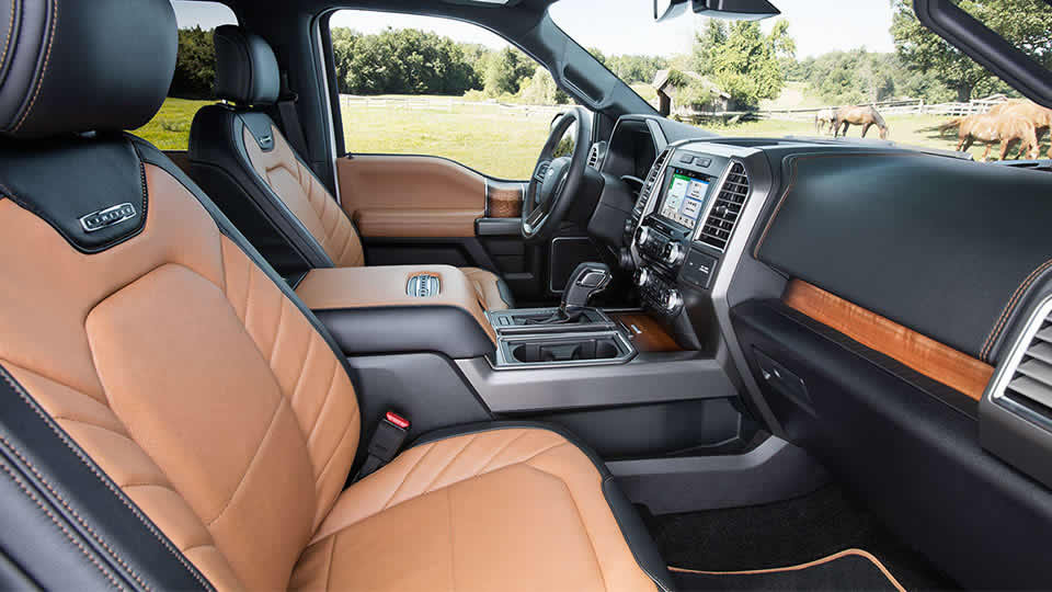 2016 Ford F-150 two tone front seats