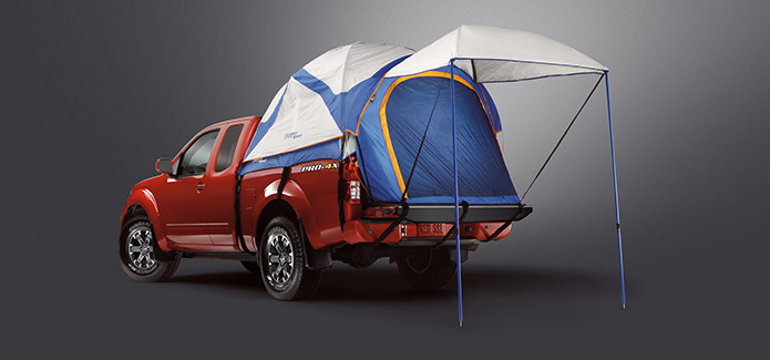 2018 Nissan Frontier bed tent accessory & 2018 Nissan Frontier accessories