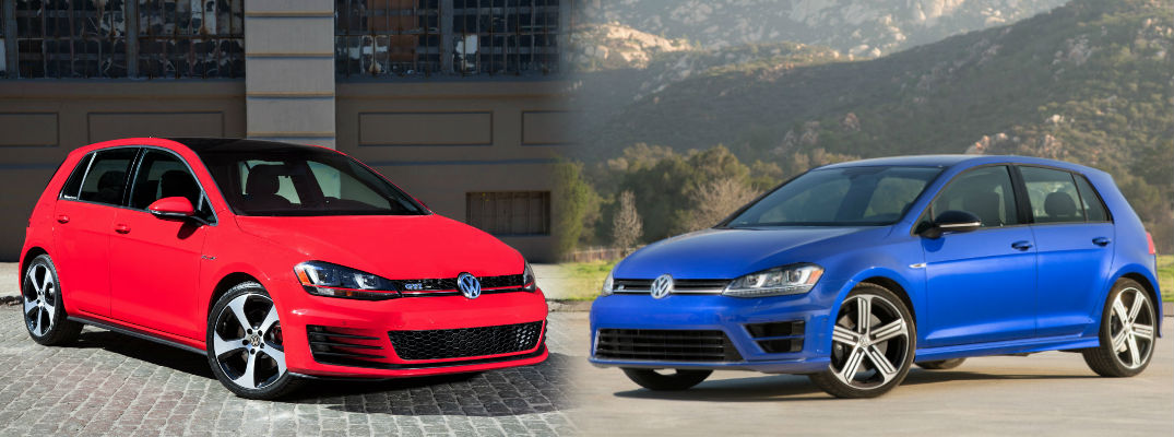 2016 volkswagen golf gti vs 2016 volkswagen golf r. Black Bedroom Furniture Sets. Home Design Ideas