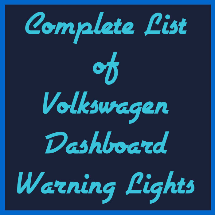 What Does The Volkswagen Bottle Pouring Fluid Dashboard Indicator Mean