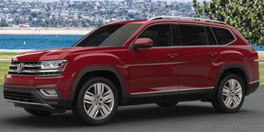 What colors are available for the 2018 Volkswagen Atlas?