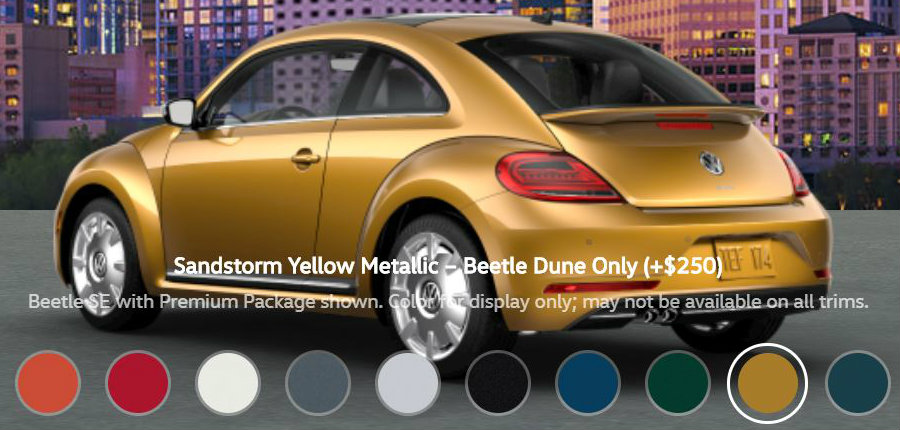 What Are The Paint Color Options For The 2018 Vw Beetle