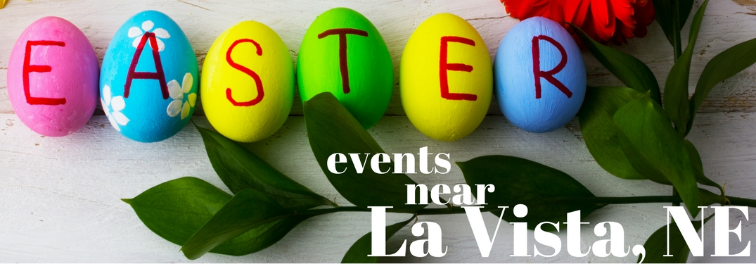 """Easter eggs on table spelling out """"EASTER"""""""