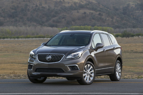 2016 Buick Envision midsize crossover SUV in grey