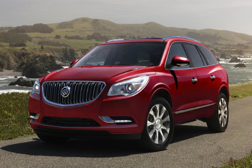 Sport Touring model of the 2017 Buick Enclave on the road