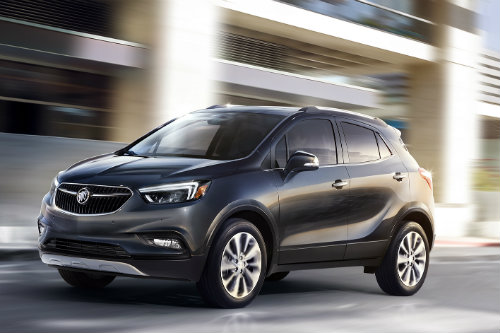 2017 Buick Encore driving in the city