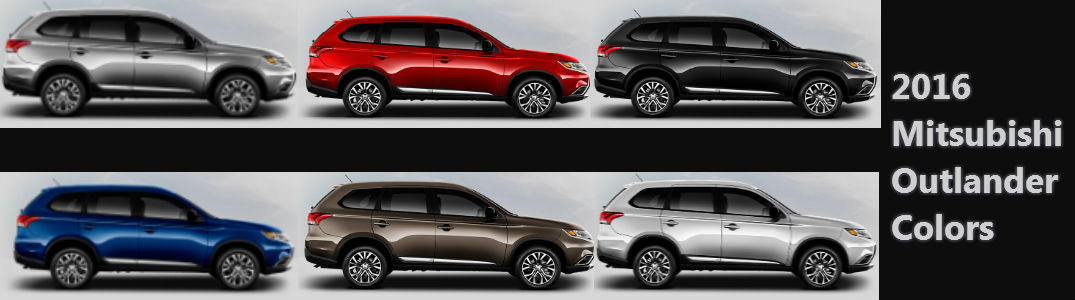What colors does the 2016 Outlander come in?