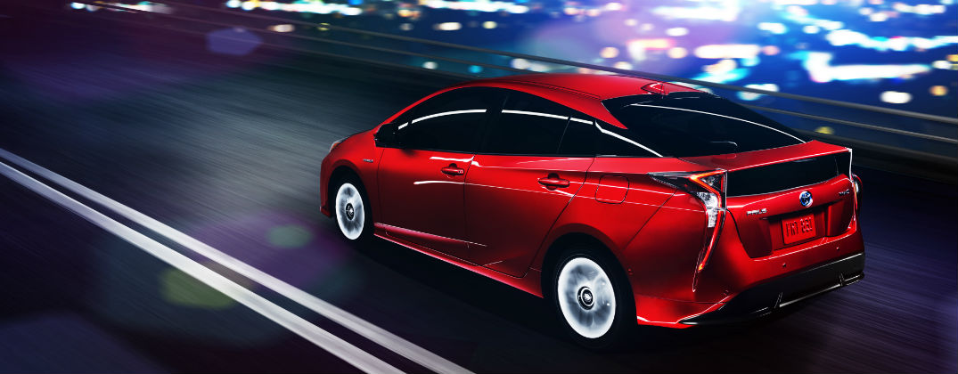 New and Improved 2016 Toyota Prius Design at Allan Nott Toyota-Lima OH-Red 2016 Toyota Prius Backend Exterior