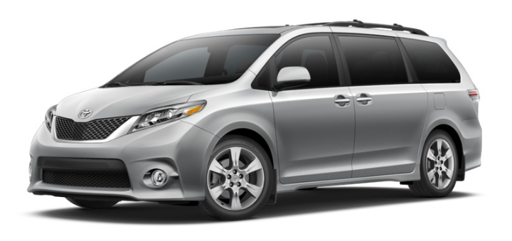 2017 Toyota Sienna Color Options