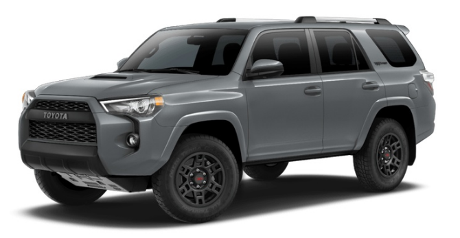 2017 Toyota 4runner Color Options