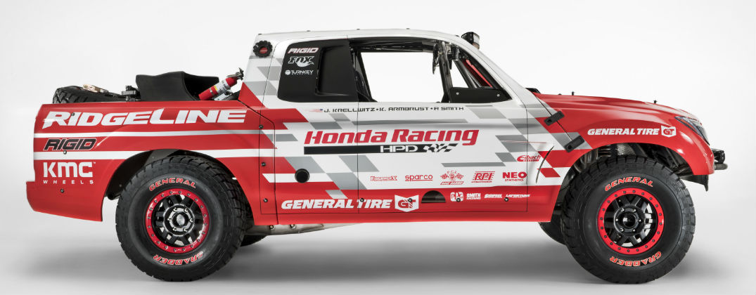 Honda Ridgeline Baja Race Truck Design and Powertrain at Allan Nott Honda-Lima OH-Honda Ridgeline Baja Race Truck Side Profile Exterior