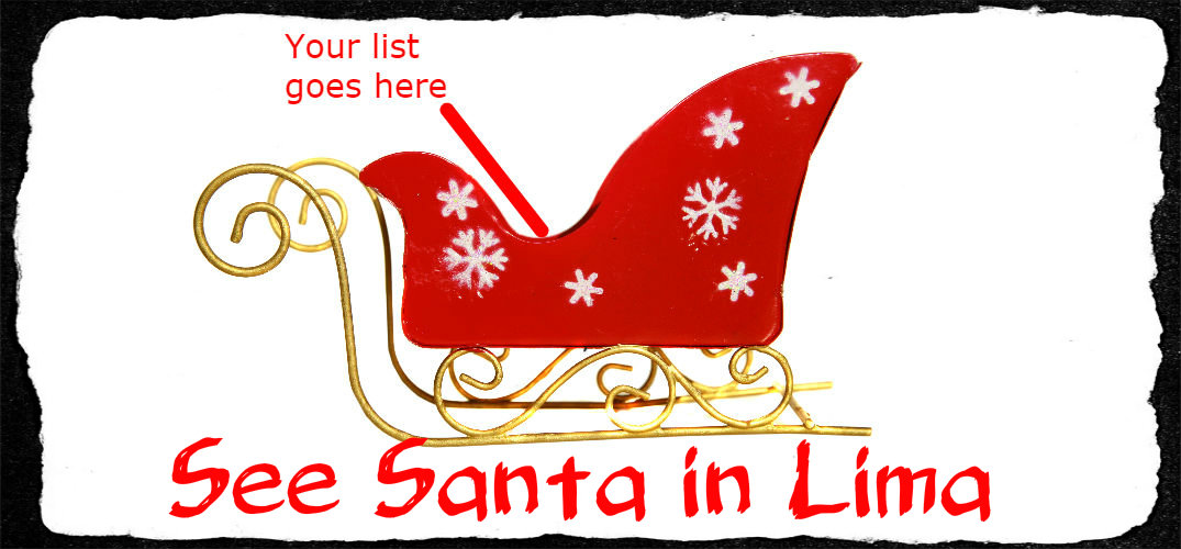 When can I see santa in Lima, Ohio
