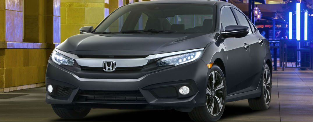 Will the 2016 Honda Civic Be Faster at Allan Nott-Lima OH-Grey 2016 Honda Civic Front Exterior
