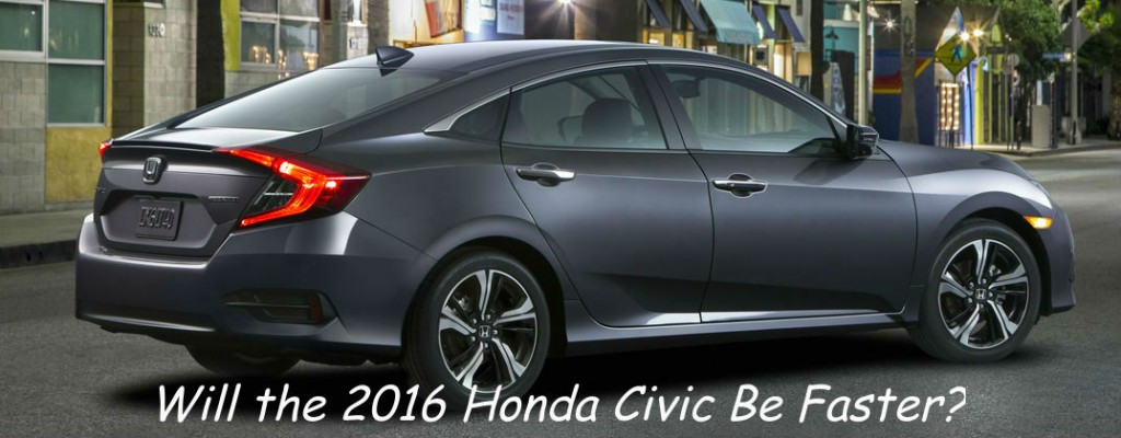 Will the 2016 Honda Civic Be Faster at Allan Nott-Lima OH-Grey 2016 Honda Civic Rear Exterior