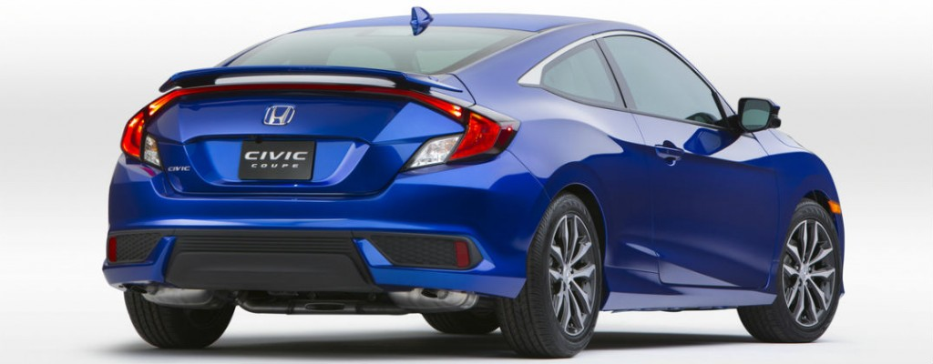 2016 Honda Civic Coupe Release Date and Design at Allan Nott-Lima OH-Blue 2016 Honda Civic Coupe Rear Exterior