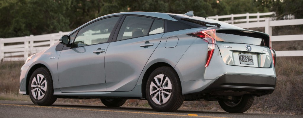 Official 2016 Toyota Prius Power and Fuel Economy Specs at Allan Nott-Lima OH-Silver 2016 Toyota Prius Three Rear Exterior