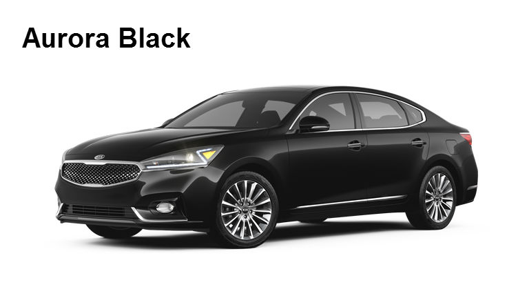 2017 Kia Cadenza Aurora Black Exterior Color Option