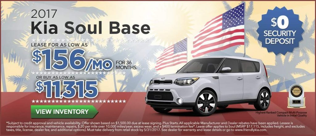 Good 2017 Kia Soul Lease Specials Memorial Day 2017 Kia Soul Base Tampa  Clearwater FL