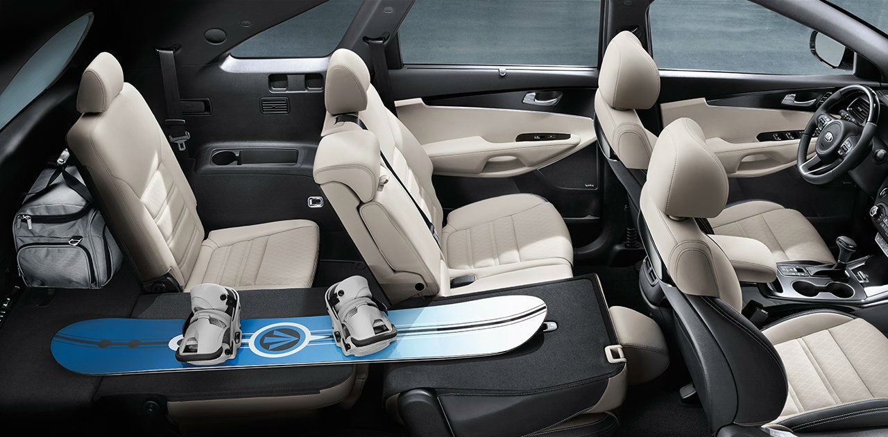 2018 Kia Sorento Interior Seating Space And Fabric Options