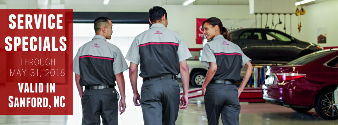 Oil change special in Sanford NC for May 2016