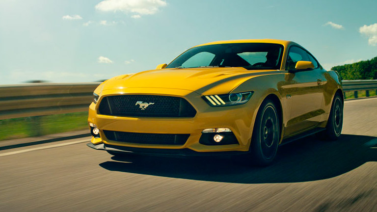 top color options for the 2015 ford mustang