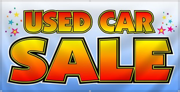 used car sale sign