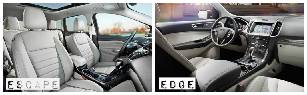 Ford Escape And Ford Edge Interior Differences