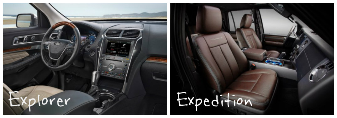 Ford Explorer and Expedition interior differences