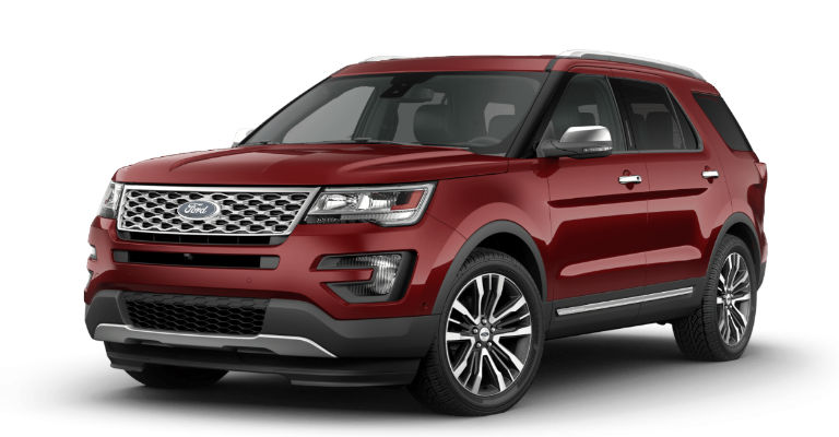 2017 Ford Explorer Exterior Color Options